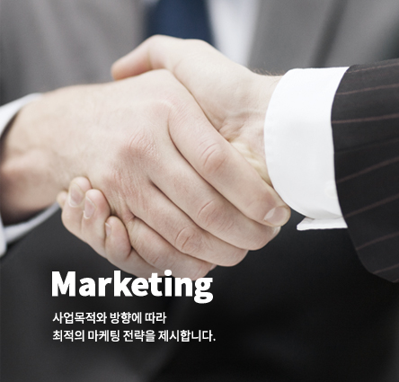 마케팅, 사업목적와 방향에 따라 최적의 마케팅 전략을 제시합니다.